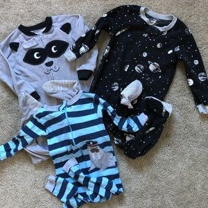 3T Pajama Set NWOT Racoon, Space (Planets), Walrus